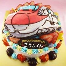 新幹線の立体ケーキ【5号5~7人用¥6,000~】