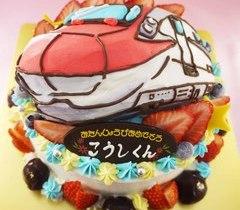 新幹線の立体ケーキ【5号~】