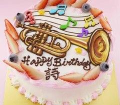 楽器のイラストケーキ【5号~】