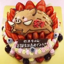かわいい動物の立体ケーキ【5号~】