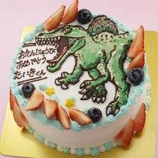恐竜のイラストケーキ【5号~】