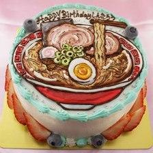 【店頭受取】ラーメンのイラストケーキ(しょうゆ味?)を作りました