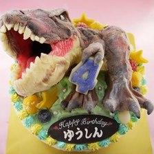 【全国配送】ティラノサウルスの立体ケーキをお作りしました