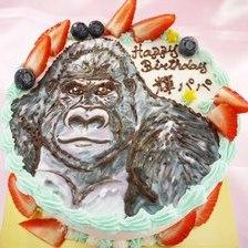 【店頭受取】ゴリラのイラストケーキを作りました