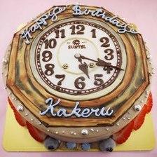 【店頭受取】時計のイラストケーキを作りました