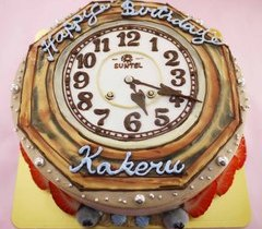 時計のイラストケーキ【5号~】