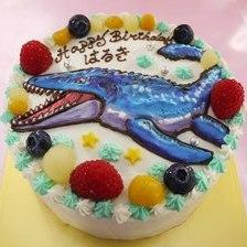 【全国配送】モササウルス(恐竜)のイラストケーキをお作りしました