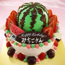 スイカの立体ケーキ【5号5~7人用¥6,000~】