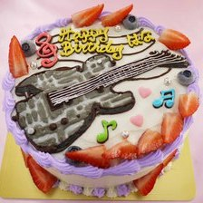 【店頭受取】ギターのイラストケーキを作りました