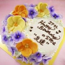 【店頭受取】食べれる花飾りのケーキ