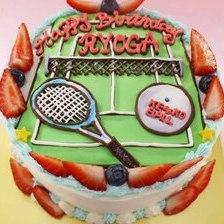 【店頭受取】テニスのイラストケーキを作りました