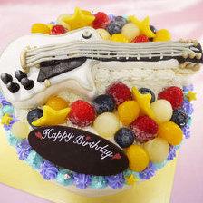 ギターの立体ケーキ【6号~】